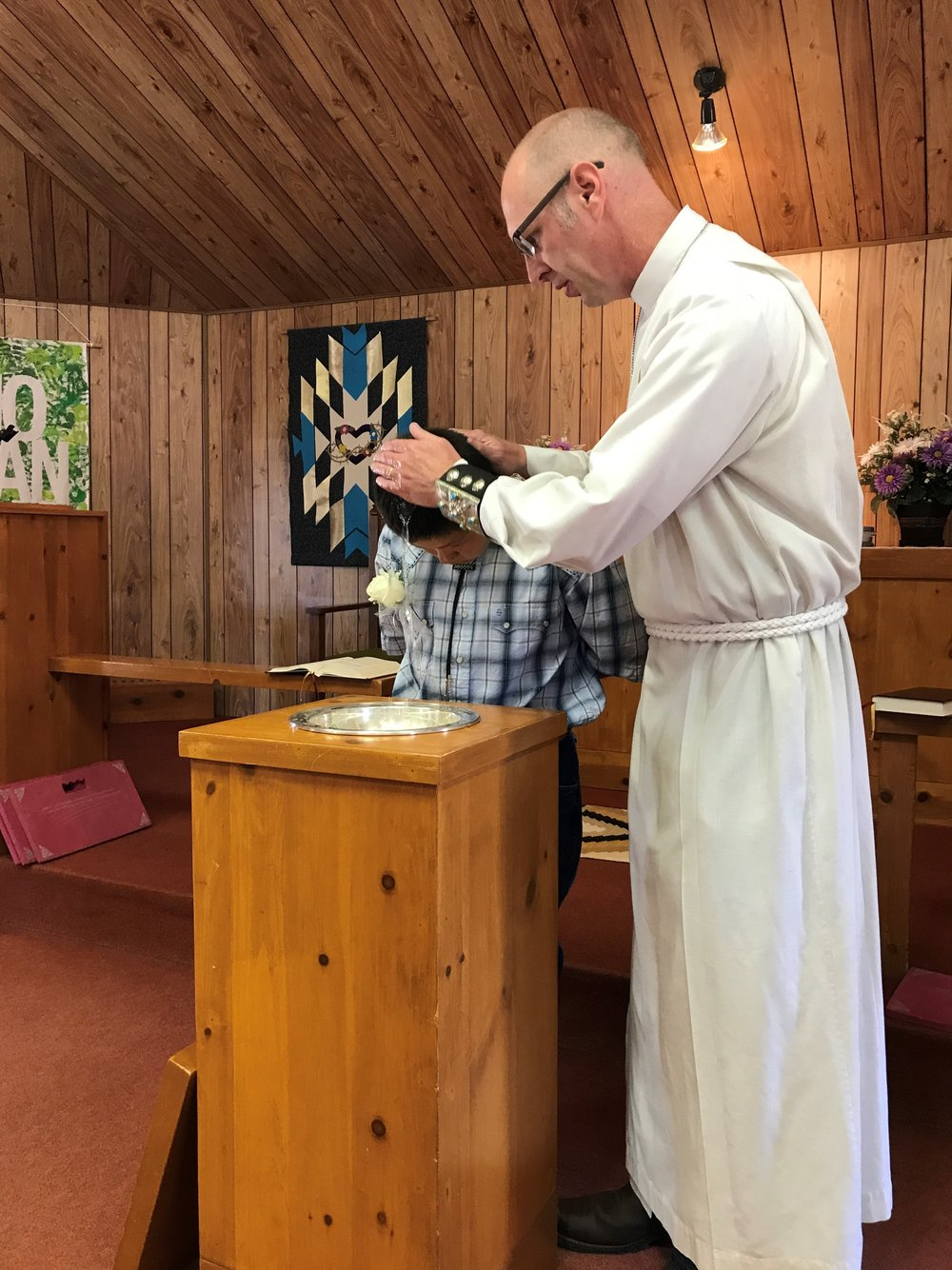 pentecost baptism navajo mebraska lutheran indian ministries tim norton