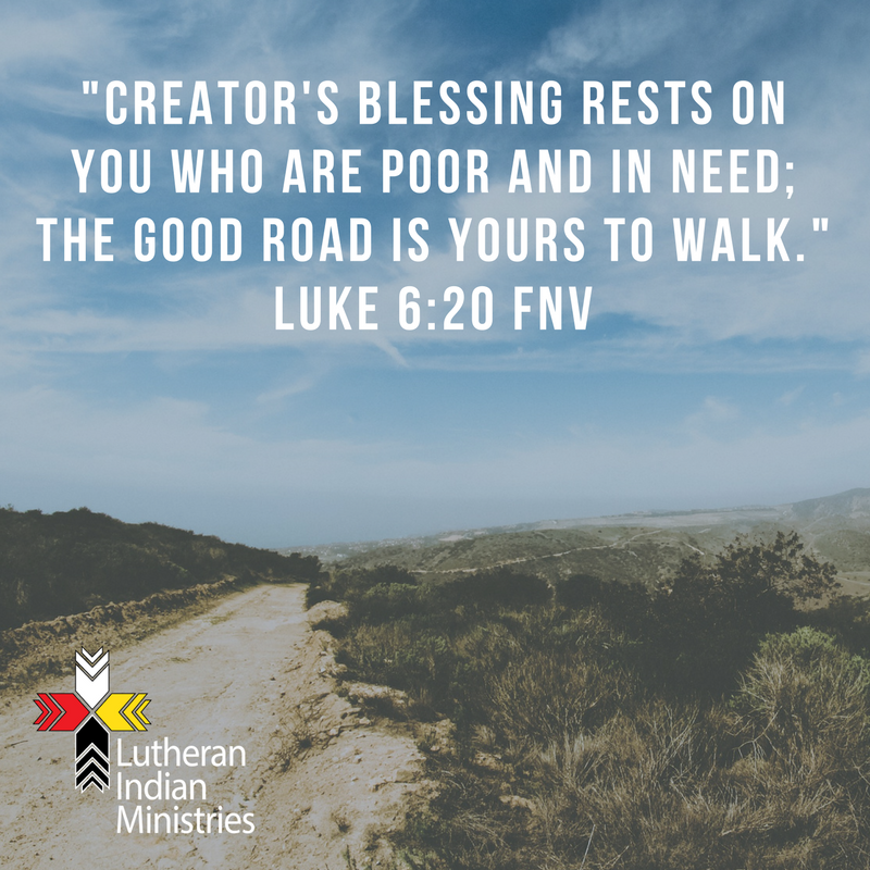 blessed are the poor luke 6:20 fnv lutheran indian ministries