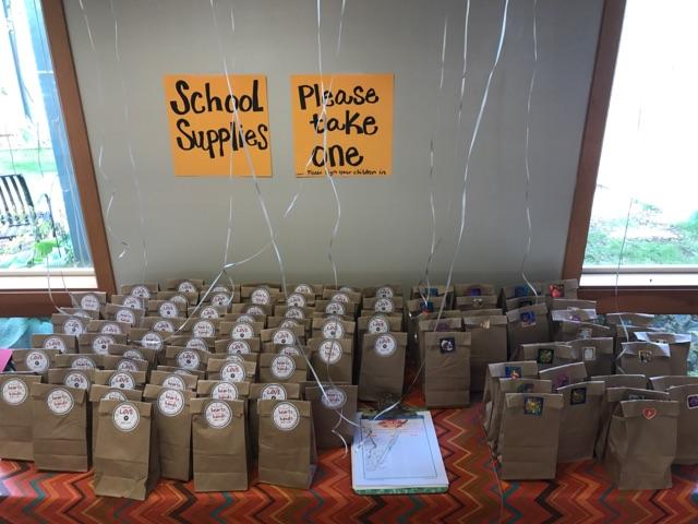 back to school blessing supply bags neah bay lutheran makah lutheran indian ministries ben maxson