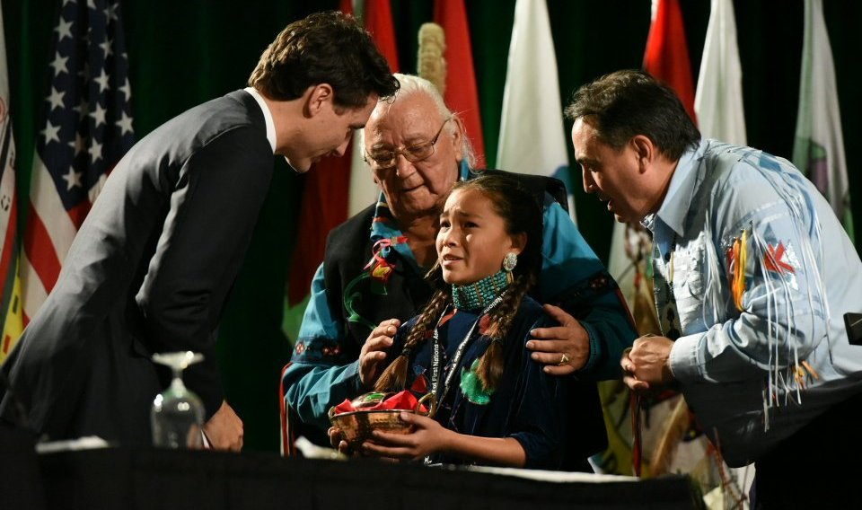 At just 13 years old, Peltier is now a nominee for the International Children's Peace Prize. Photo from article