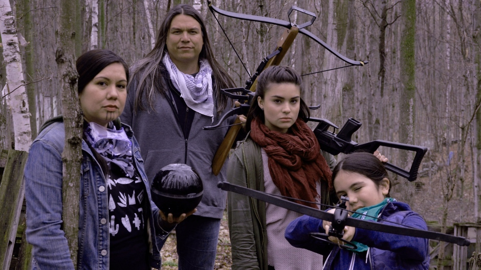 Cree/Metis filmmaker Danis Goulet's latest work, The Hunt, is a virtual reality time travel to the year 2167. (The Hunt/Danis Goulet ) lutheran indian ministries native news