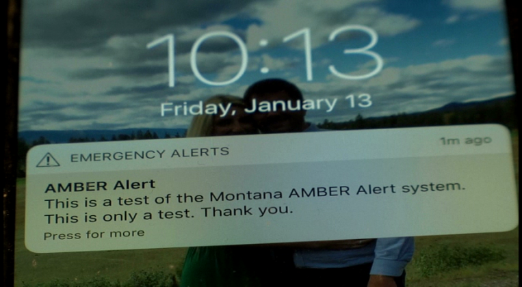 The Montana Department of Justice conducted a state-wide test of its AMBER Alert System on Friday. Credit: KBZK