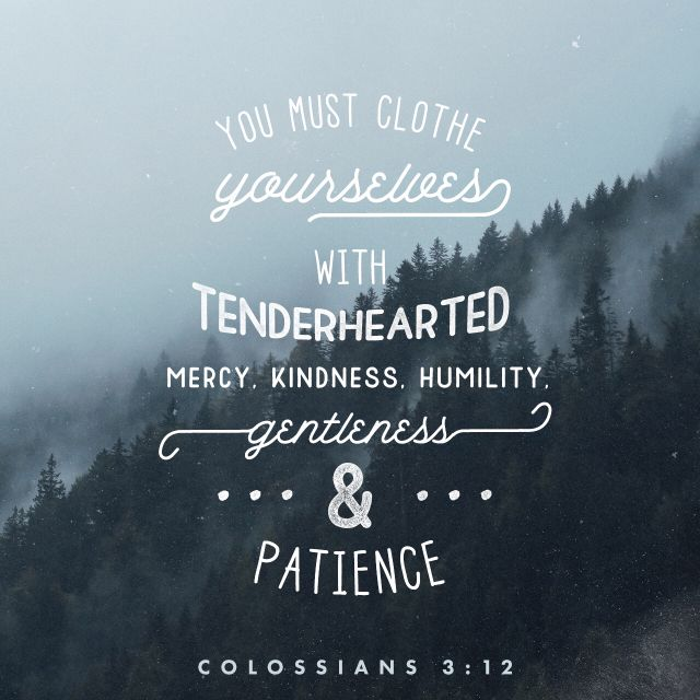 colossians 3:12 clothe yourself in humility