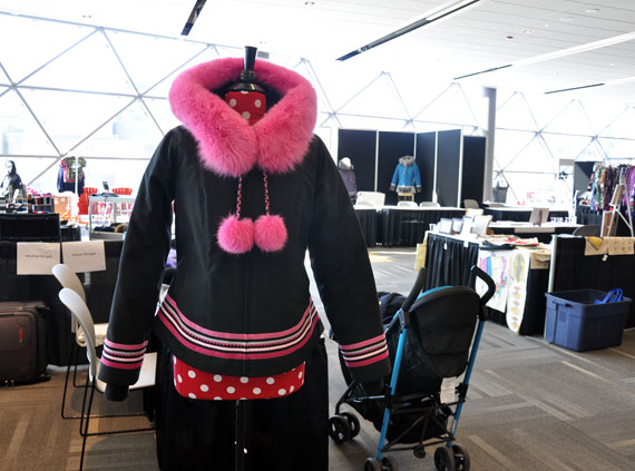This parka of Nungak's was selected to take part in a travelling exhibition of contemporary Indigenous fashion in 2016, visiting four different American museums. (PHOTO BY SARAH ROGERS) lutheran indian ministries native news