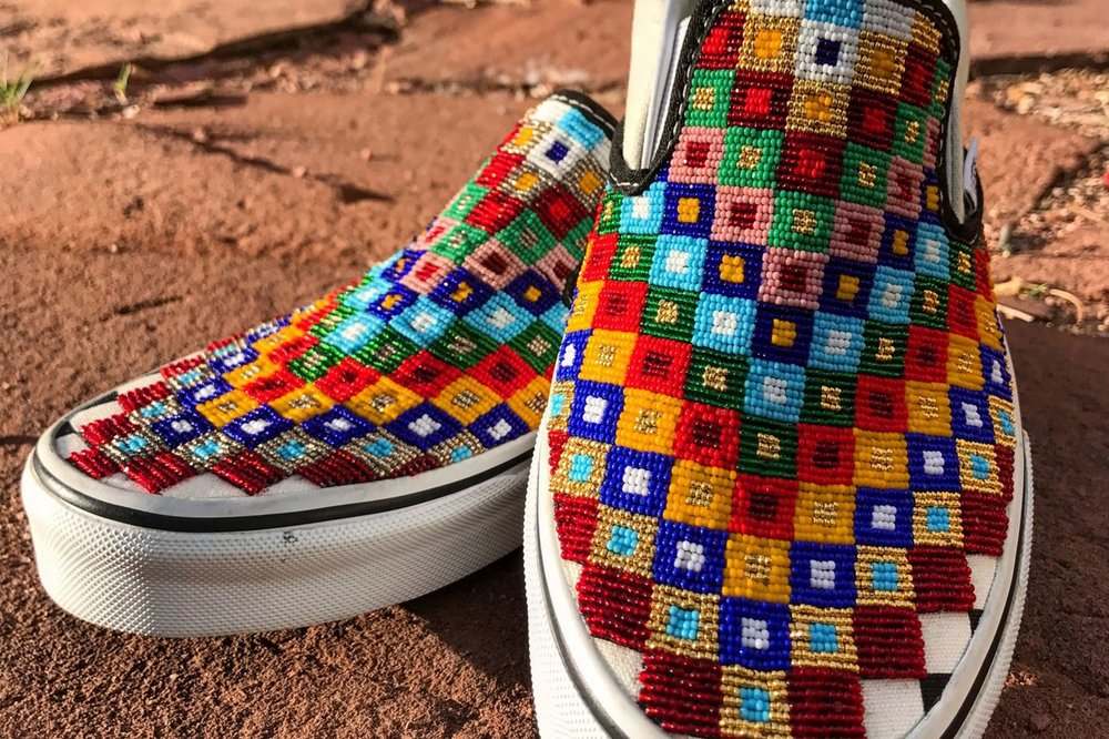 hand beaded vans go viral by charlene  holy bear lutheran indian ministries native news