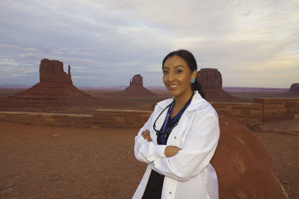 "Crystal Willie Sekaquaptewa is the first Native American woman dentist in the Utah Navajo Health System and a Creighton dental school graduate. ""I love it,"" she said. ""I feel like I'm in a great place to serve this community, to serve my people."" ROHN SOLOMON, SUU PHOTO SERVICES"