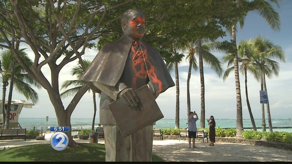 Community leaders saddened by vandalism of Prince Kuhio statue in Waikiki lutheran indian ministries native news
