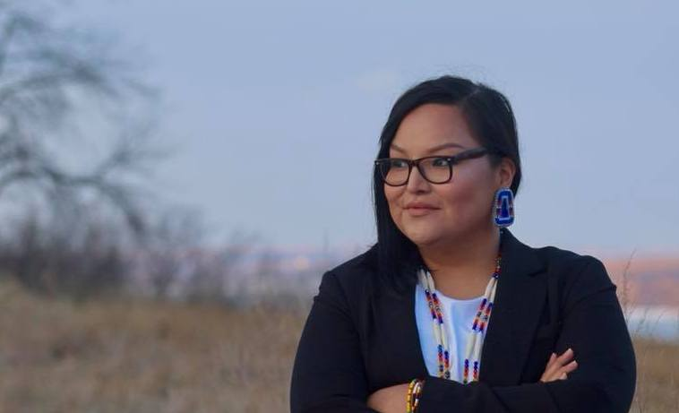 "Allison Renville, Hunkpapa Lakota, is running for the South Dakota Senate. ""I love my community, I've journeyed far and across the country but my spirit is here in District 1, South Dakota."" She says she's running to build on the legacy of Bernie Sanders' 2016 presidential candidacy.  Campaign Photo"