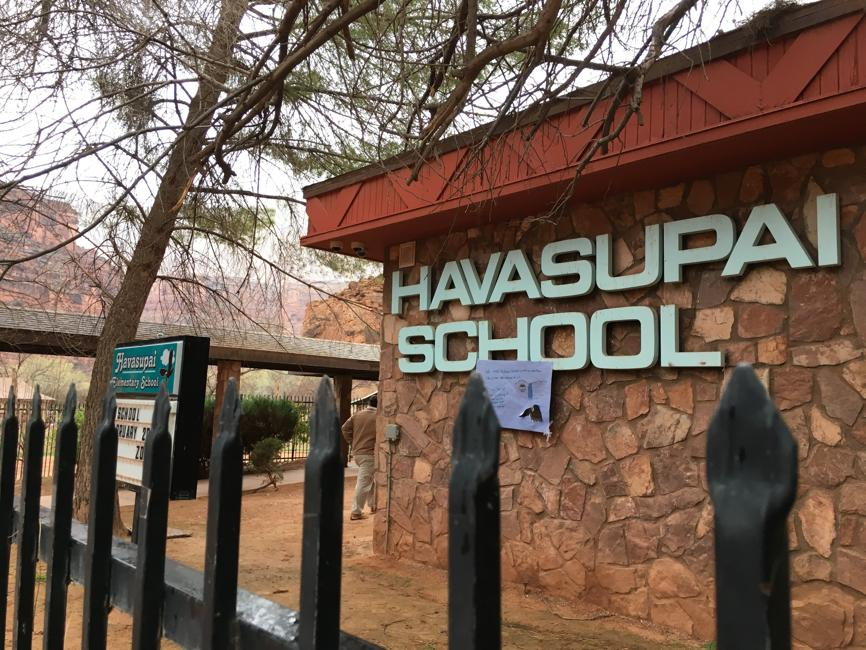 The elementary school located within the Havasupai Indian Reservation in the Grand Canyon. A federal lawsuit is demanding that students at the school receive services due to the trauma and adversity they experience in their community. Photo credit: Denten Robinson/Havasupai Tribe via AP