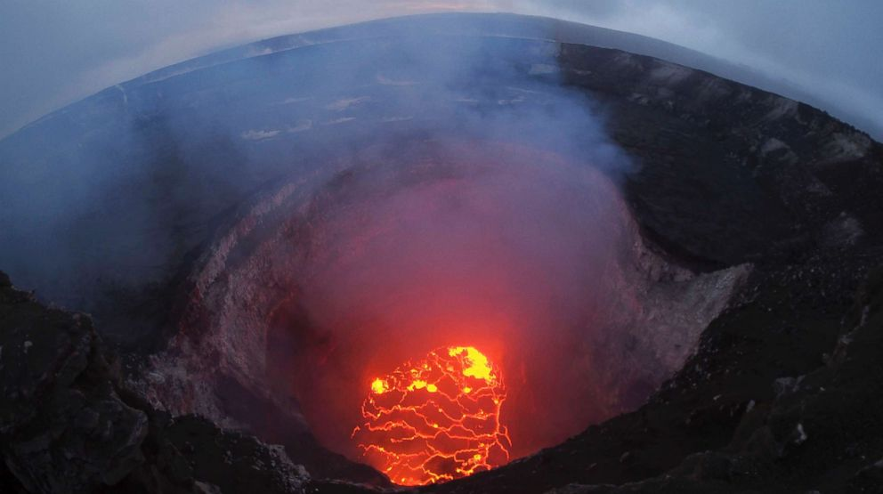 The lava lake at the summit of the Kilauea volcano near Pahoa, Hawaii. Photo: ABC NEWS