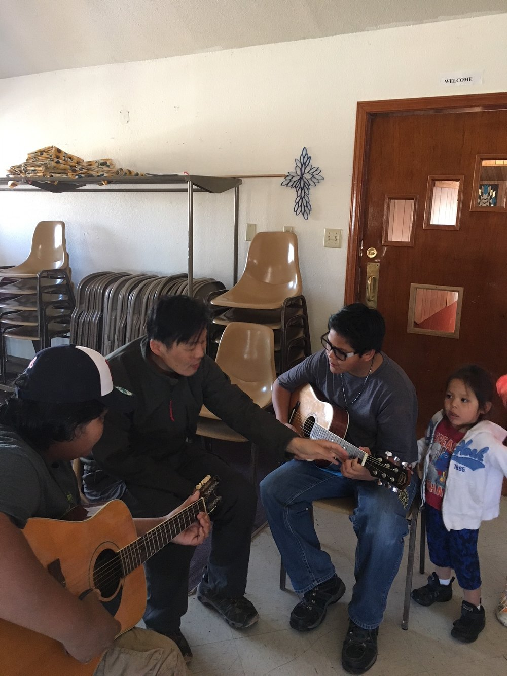 sam kim jamming in navajo lutheran indian ministries
