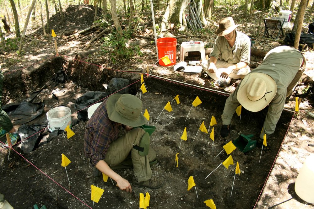 Archaeologists excavate on Mound Key in Florida, the location of the long-lost Calusa king's house and a nearby Spanish fort.  PHOTOGRAPH BY AMANDA THOMPSON lutheran indian ministries native news