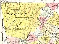 Cherokee Nation v. Georgia - Wikipedia Wikipedia Map of northeastern Georgia, showing Cherokee lands lutheran indian ministries native news