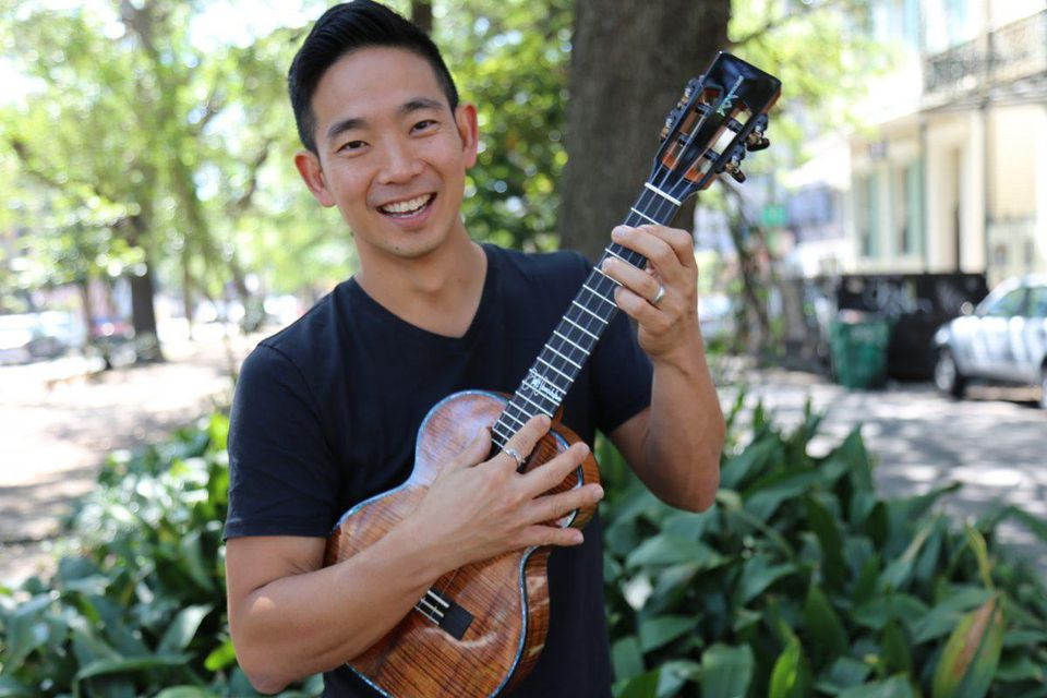 Ukulele wizard Jake Shimabukuro plays his favorite instrument at the New Orleans Jazz and Heritage Festival last April. VAN FLETCHER