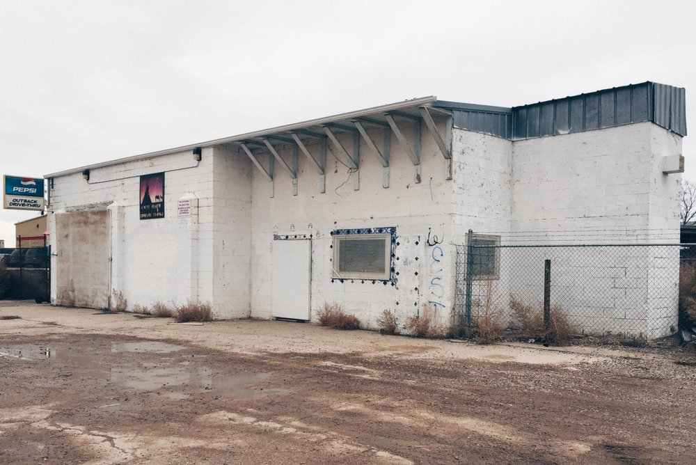 The former Arrowhead Inn, a liquor store in Whiteclay, Nebraska, has been purchased to turn into a space for local artisans to work. WHITECLAY MAKERSPACE