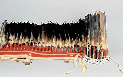 This Northern Cheyenne headdress was offered to sale to a Norwegian collector for $140,000. Photo Credit: Albuquerque Journal