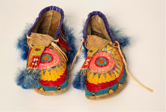 lutheran indian ministries native news A sunburst design is incorporated into the quillwork on the top of these men's moccasins.  Starburst designs are also often seen on hide paintings. Men's Quilled Moccasins. Buckskin, porcupine quills, glass beads ca. 1900