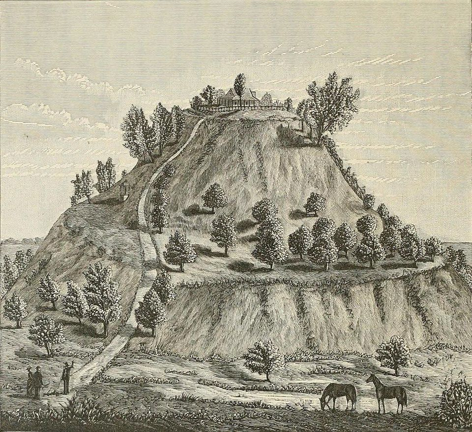 lutheran indian ministries native news - Monks Mound, Cahokia site, 1882 illustrationW. R. BRINK & CO. | WIKIMEDIA COMMONS