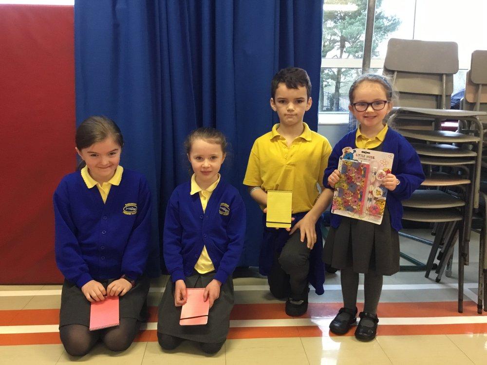 Susanna P5, Hana P4, Matthew P7 and Joy P1
