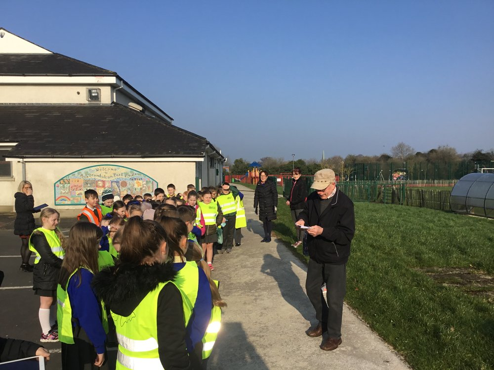 Liam told the children the History of St Olcan