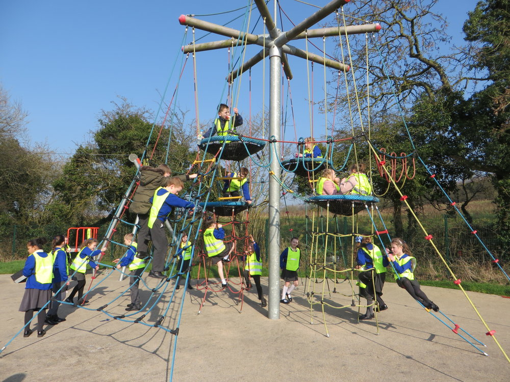 The children all managed a few minutes play time in the park.