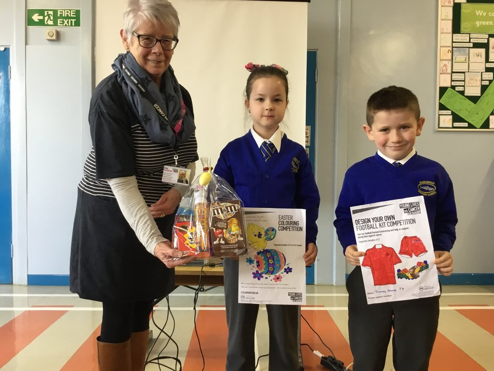 Zuzanna and Thomas  - colouring competition winners