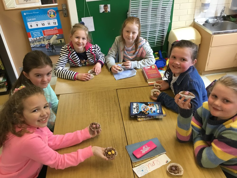 P5 enjoy their chocolate nests