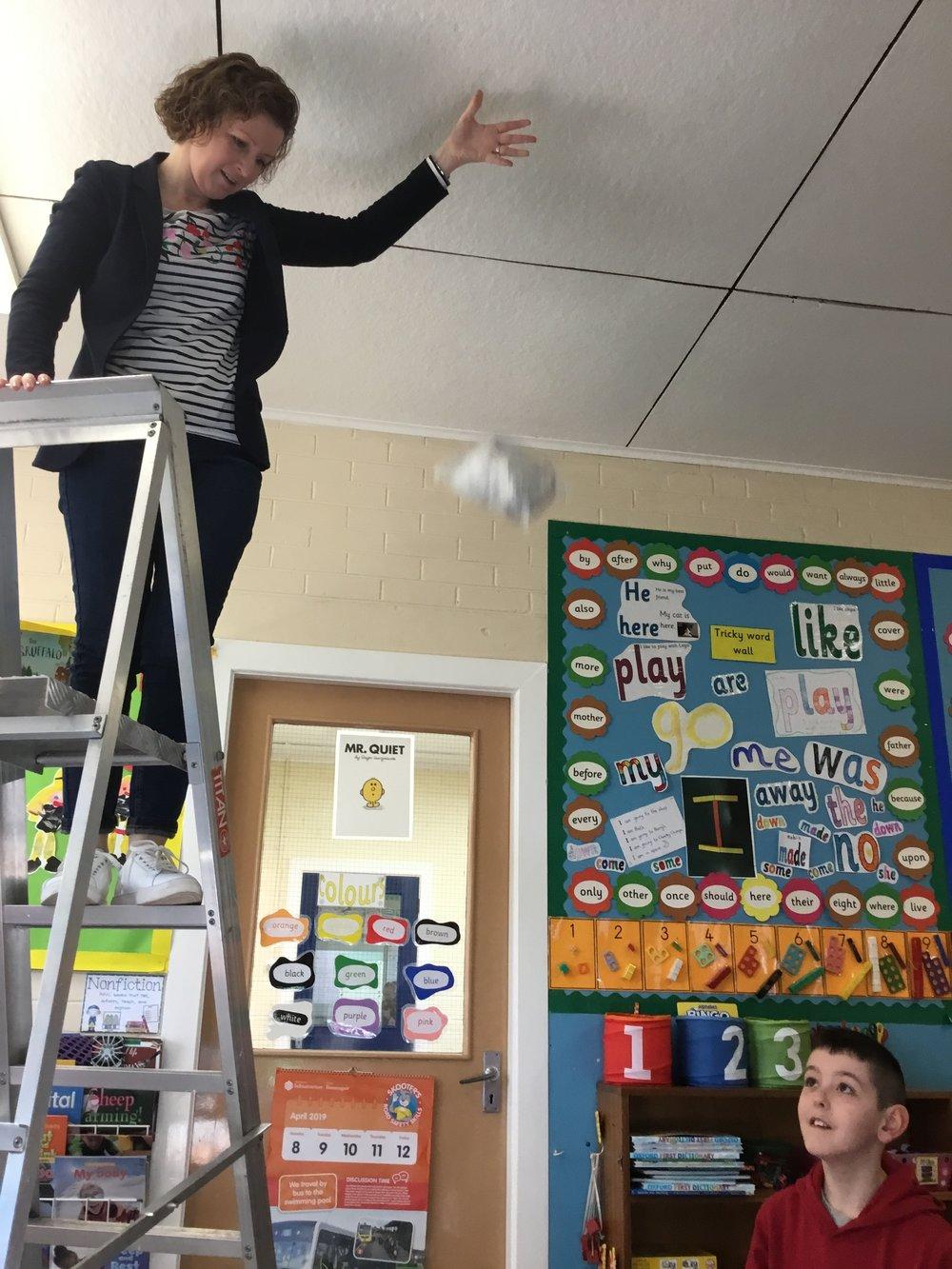 MRS CALDERWOOD DROPS THE EGGS!