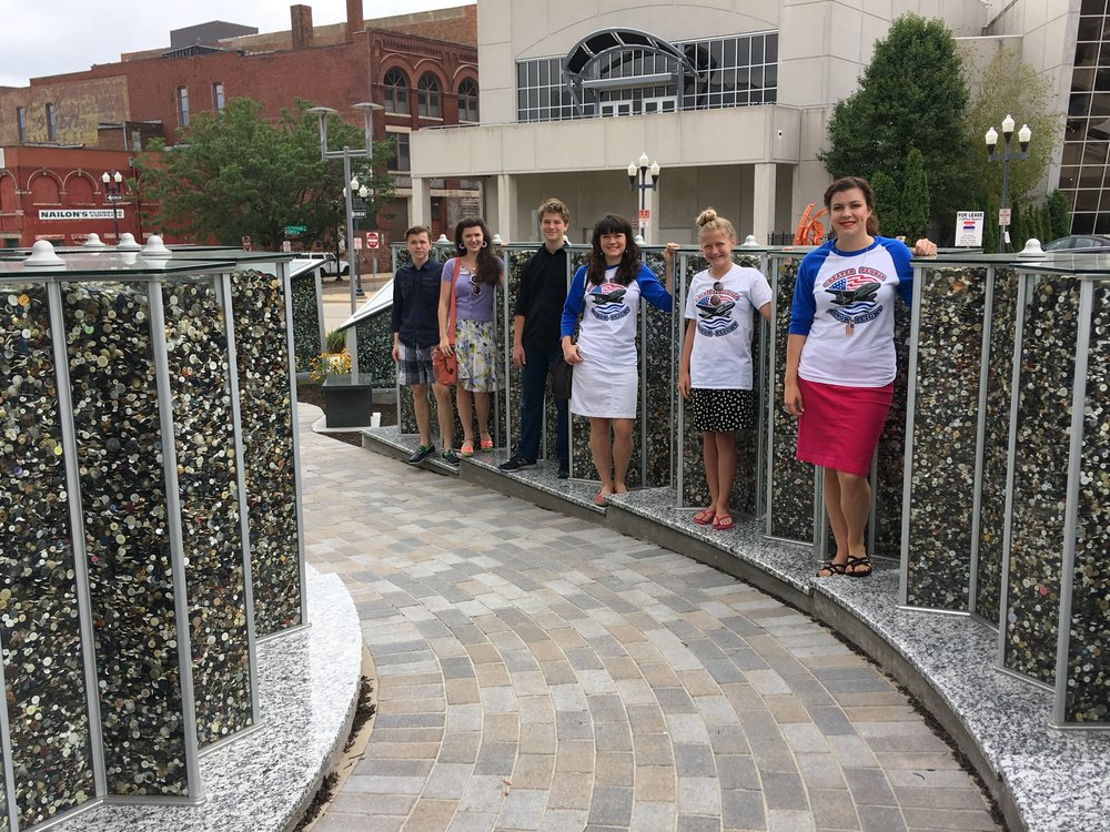 While in Illinois, we stopped at this very moving Holocaust memorial. Every button was donated and represents one life tragically stolen.