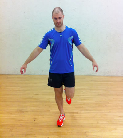 30 sec to 1 min no hands, switch and do the other leg, repeat 2 times, 2-3/day