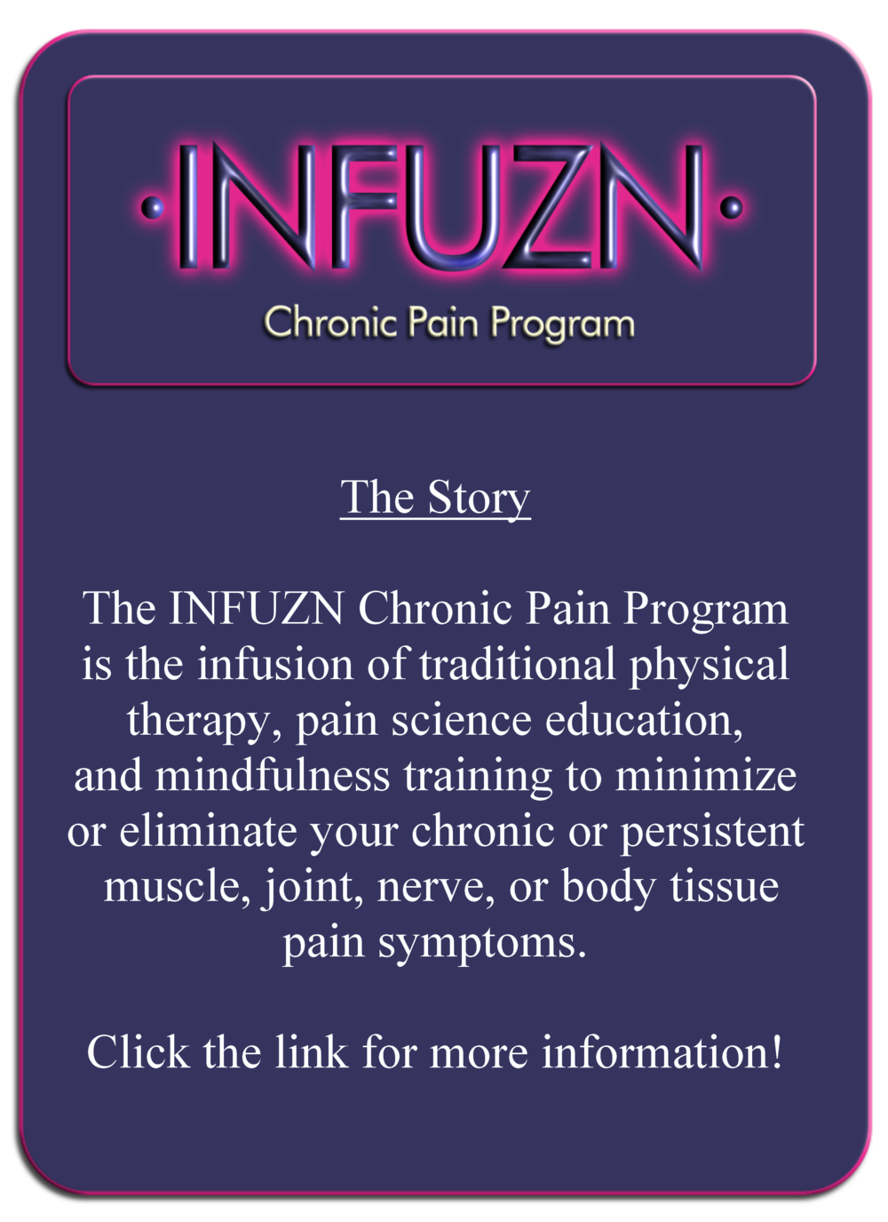 infuzn chronic pain program form avery physical therapy a mobile