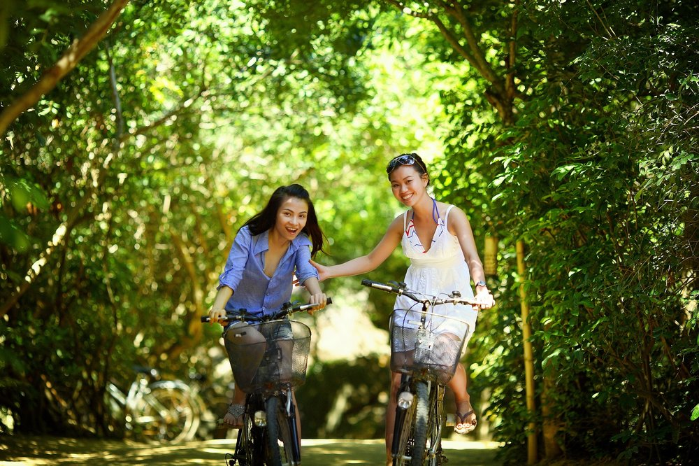 Bike riding.