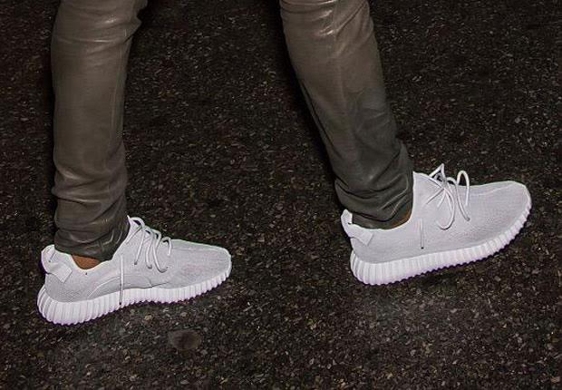 ccb7bccf81975 Kanye West wearing his Adidas Yeezy 350 Boost