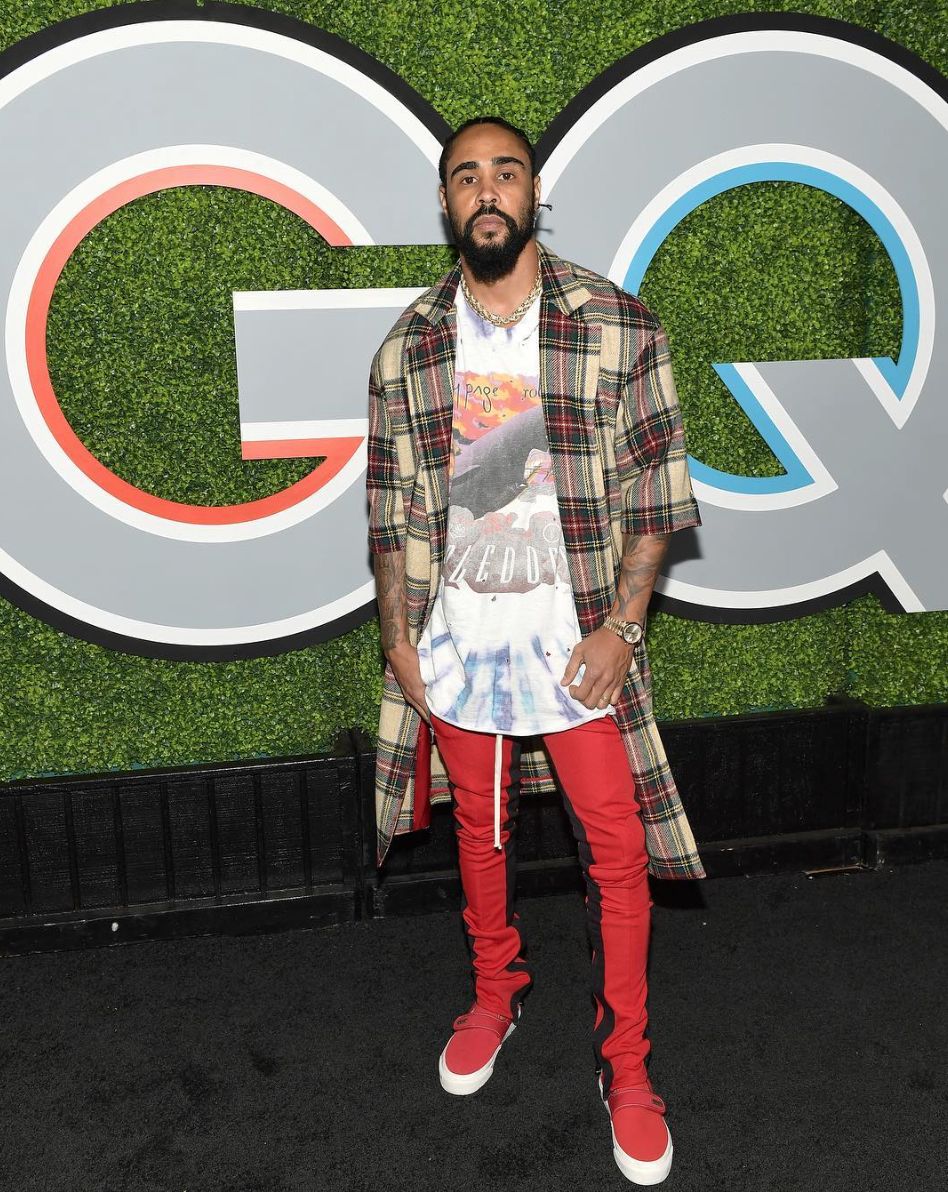 Jerry Lorenzo wearing Fifth Collection and Fear of God Vans @ GQ, 2017