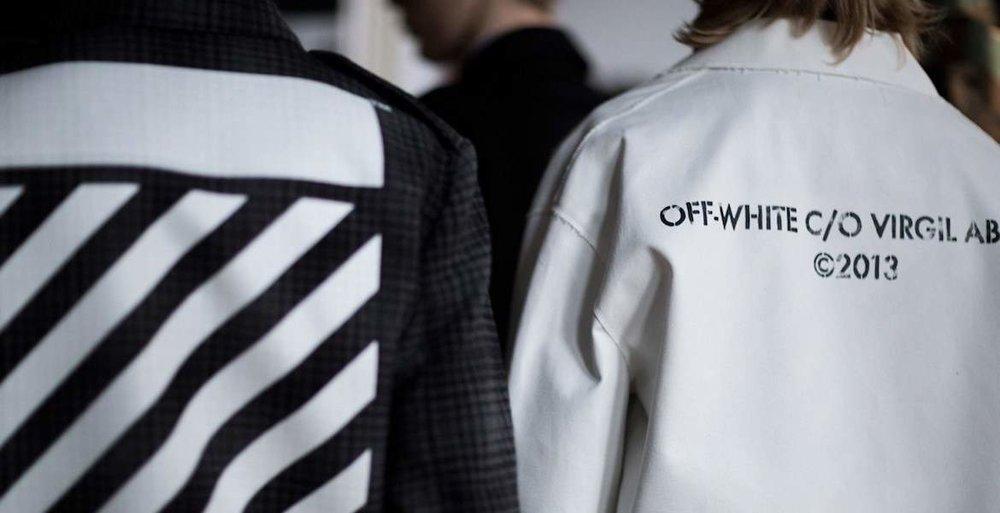 Off-White;Photo via   The Idle Man