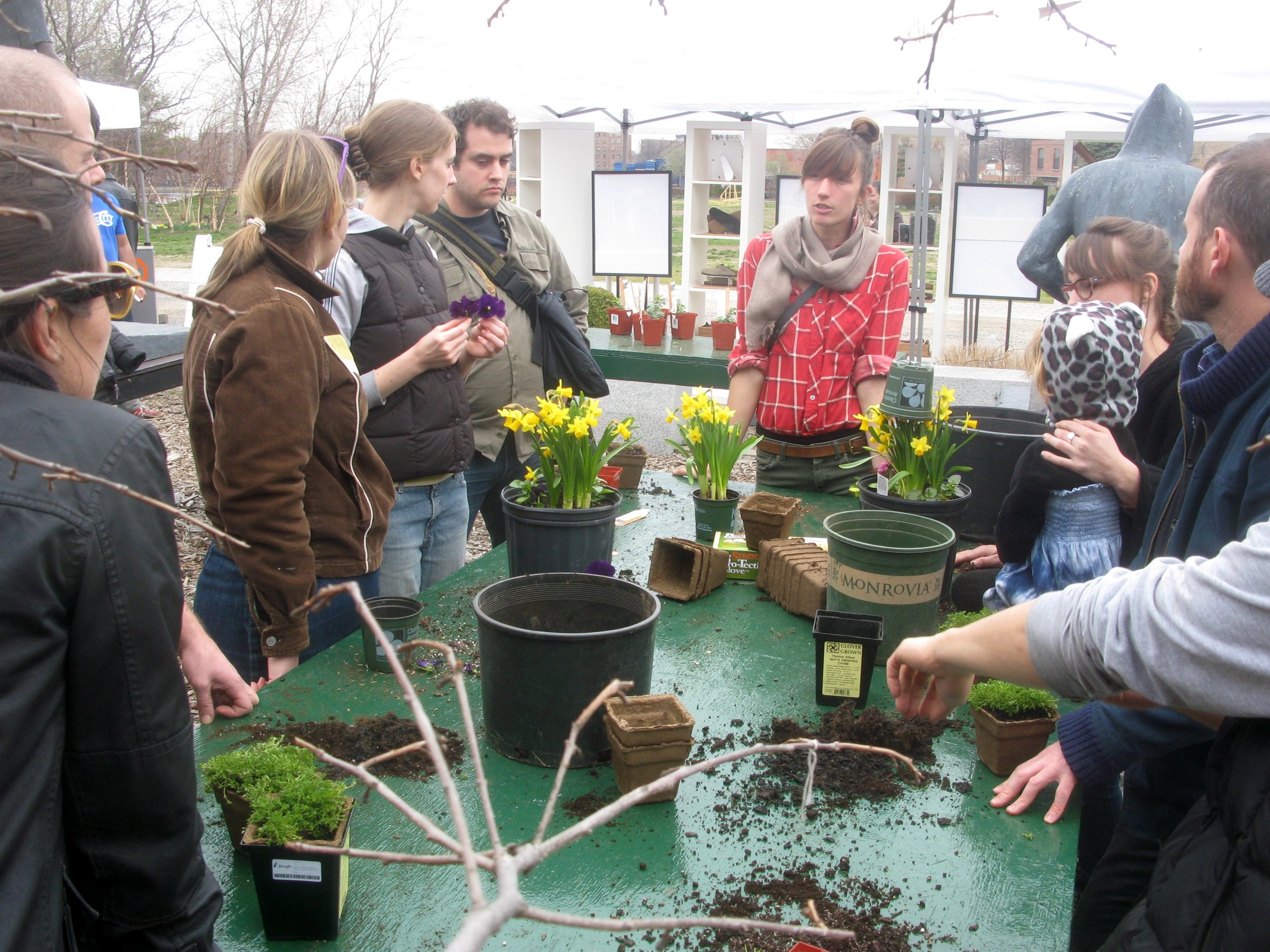 Container Gardening workshop @ Socrates Sculpture Park by Nick Normal/CC BY