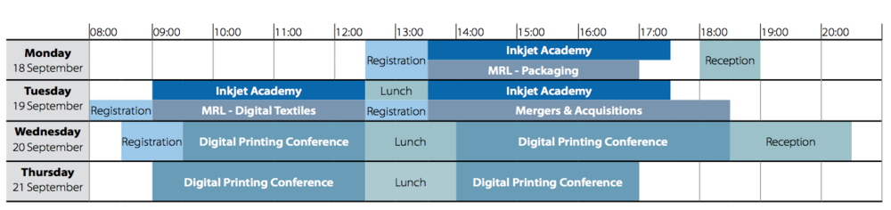 Digital Print Europe 2017 timetable