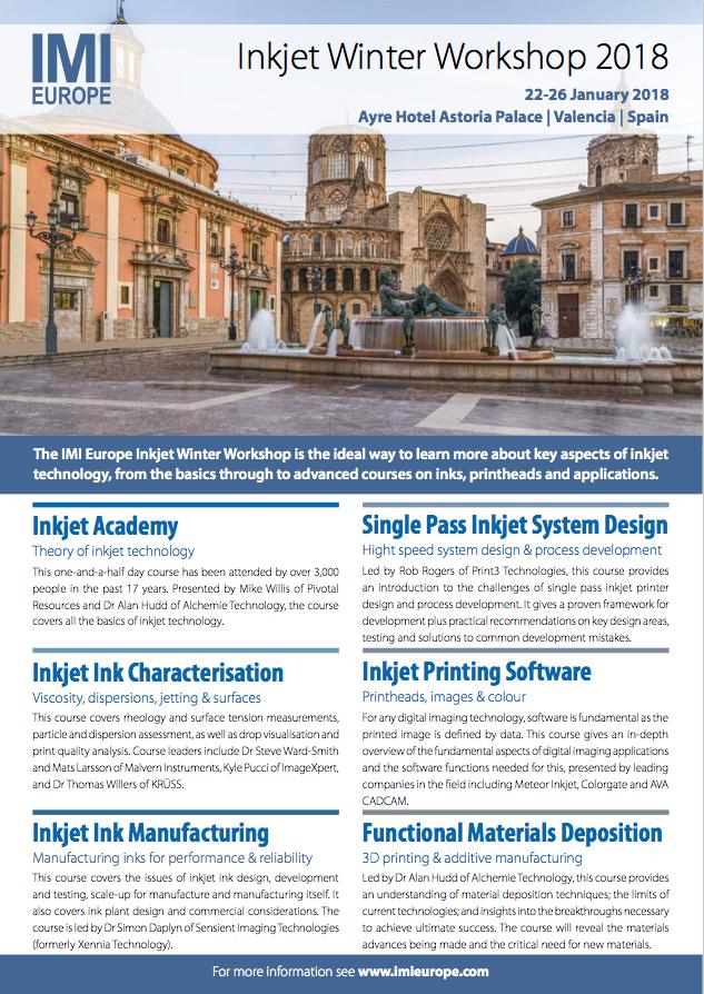 Download the Inkjet Winter Workshop 2018 brochure