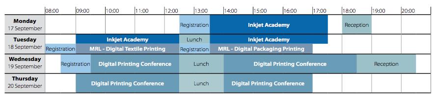 Digital Print Europe 2018 timetable
