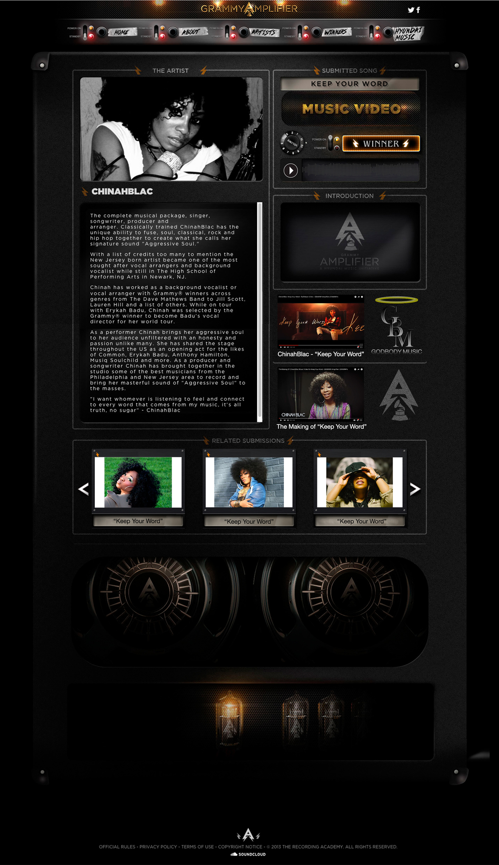 ChinahBlac Grammy Amplifier