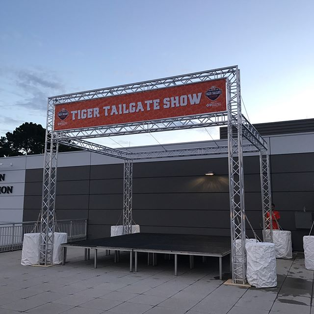 Just finished building this truss system with @theeventguys for the Tiger Tailgate Show. #clemsonfootball @milwaukeetool