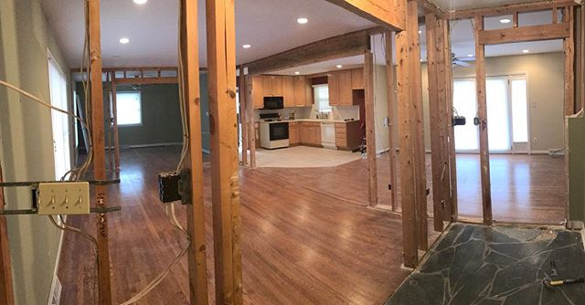 Demo day on our newest remodel! Complete open floor plan and new hardwoods/kitchen.