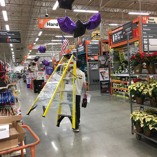 Sometimes you find a deal so good you go back for seconds and seconds comes with balloons. Thank you @homedepot! #kasayconstruction #blackfriday