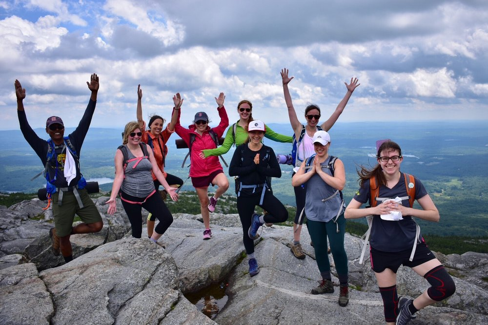 Celebrating making it 3,165 ft to Mt. Monadnock's summit!  Photo credit: Lauren Tierno