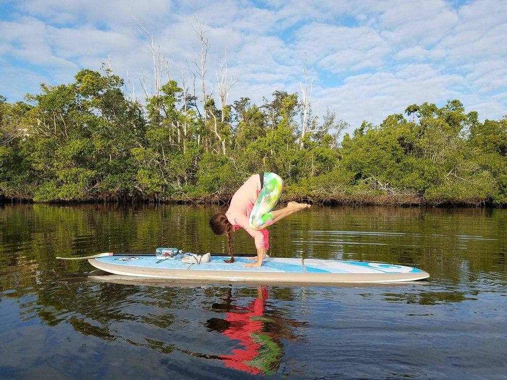 - Join me for SUP Yoga! Check my schedule for pre-scheduled classes, or get a friend or two together and book an on-demand sesh!
