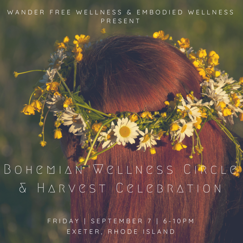 bohemain wellness circle and harvest celebration yoga meditation women's circle