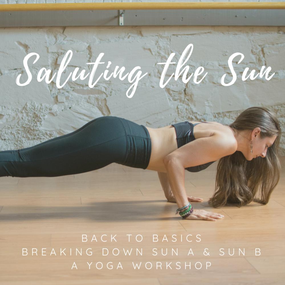 Saluting the Sun Yoga Workshop