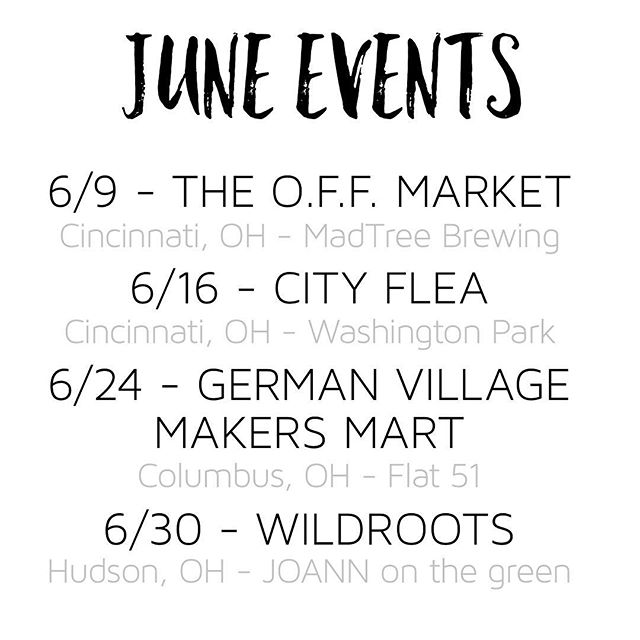 I can't believe it's already June! Schedule is a little more packed than normal but I'm ready... let's do this!!
