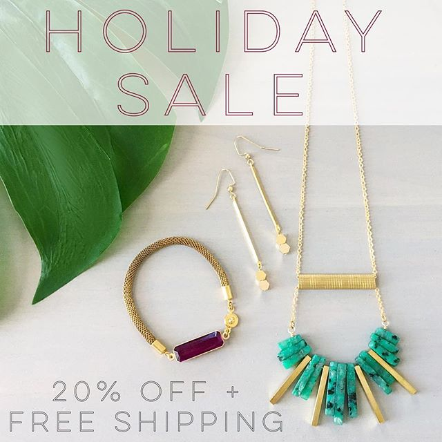 Holiday sale happening right now! Use code: MERRY to get 20% off your order and free shipping within the US. Link to store in bio.