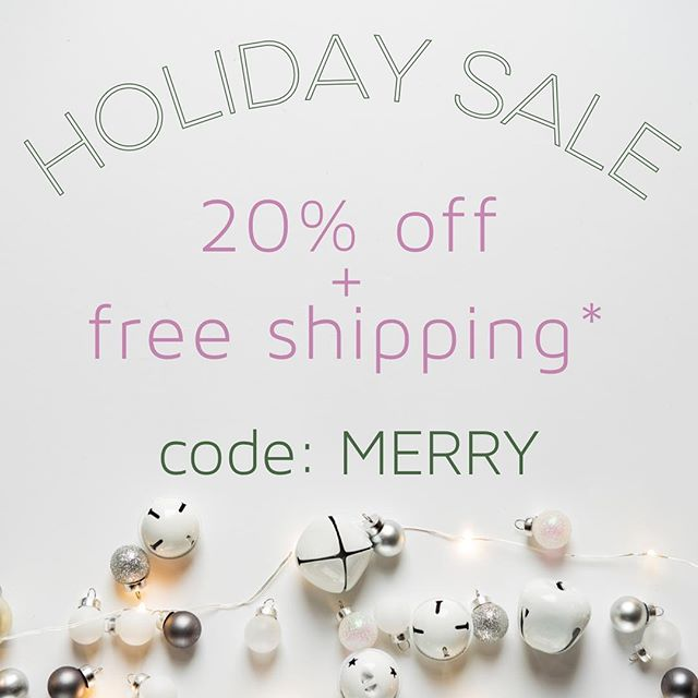 Use code MERRY for 20% off & free shipping on our website (link in bio) & Etsy shop. Free shipping valid on orders within the US only. Order by Dec 18 to ensure delivery by Christmas.  #christmassale #handmadesale #etsysale #jewelrysale #madeinohio #handmadejewelry #etsyshop #chastina #giftsforher #giftidea #handmadeholiday